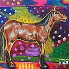 'HORSE IN A FIELD OF COLOR'  by Jerry Kirk