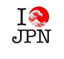 I love Japan Photographic Print