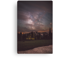 Mt Rainier & Milky Way Canvas Print