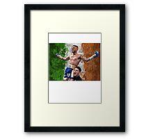 Carl Frampton Boxing World Champion Irish Flag Framed Print