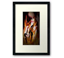 Guitarist of the devil Framed Print
