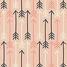 Arrows Pastel Colors Pattern by Ivaleksa
