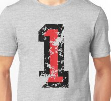The Number One - No. 1 (two-color) red Unisex T-Shirt