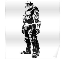 Spartan Black and White Poster