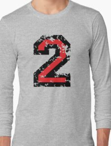 The Number Two - No. 2 (two-color) red Long Sleeve T-Shirt