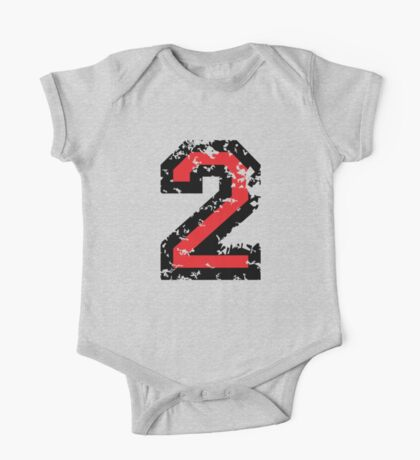 The Number Two - No. 2 (two-color) red One Piece - Short Sleeve