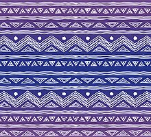 Purple Ombre Abstract Tribal Pattern by Ivaleksa