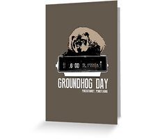 Groundhog Day  Alarm Clock  Punxsutawney Color T-shirt Greeting Card