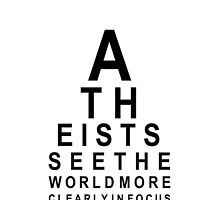 Atheist Eye Test by atheistcards
