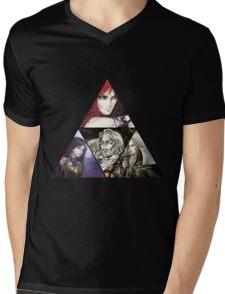 Castlevania Triforce (Alucard, Shanoa, Simon Belmont and Shanoa) Mens V-Neck T-Shirt