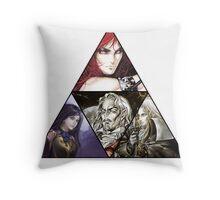 Castlevania Triforce (Alucard, Shanoa, Simon Belmont and Shanoa) Throw Pillow