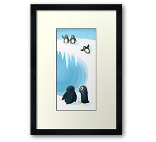 Penguin Playground Framed Print