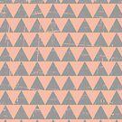 Gray and Salmon Triangles Pattern by Iveta Angelova