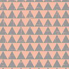 Gray and Salmon Triangles Pattern by Iveta Angelova