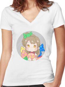 LOVE LIVE! Caramel Kotori Women's Fitted V-Neck T-Shirt