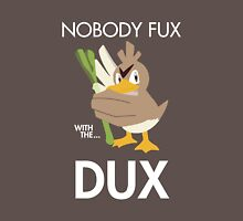 Twitch Plays Pokemon: Nobody Fux With The Dux - Dark with White Text Unisex T-Shirt