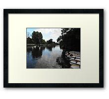 Stratford Boat Dock Framed Print