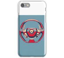 Ferrari Steering Wheel Pop Art Print iPhone Case/Skin