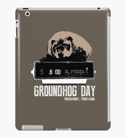 Groundhog Day  Alarm Clock  Punxsutawney Color T-shirt iPad Case/Skin