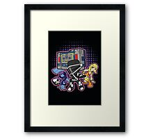Old Skool 80s Cartoon B Boys (and girl) Framed Print