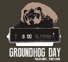 Groundhog Day  Alarm Clock  Punxsutawney Color T-shirt by theshirtnerd