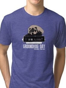 Groundhog Day  Alarm Clock  Punxsutawney Color T-shirt Tri-blend T-Shirt