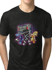 Old Skool 80s Cartoon B Boys (and girl) Tri-blend T-Shirt