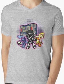 Old Skool 80s Cartoon B Boys (and girl) Mens V-Neck T-Shirt
