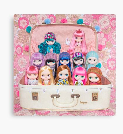 Blythes in a vintage suitcase - what more do you need? ;) Canvas Print