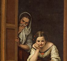 Women from Galicia at the Window by Bridgeman Art Library