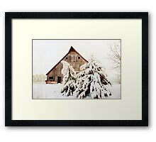 First Snow Fall Framed Print