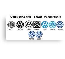 Volkswagen Logo Evolution Canvas Print