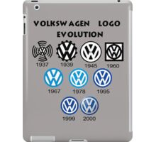 Volkswagen Logo Evolution iPad Case/Skin