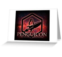 Ltd Edition Red Penguicon Galaxy Greeting Card