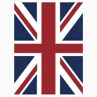 BRITISH Union Jack Flag UK, United Kingdom, Pure & simple by TOM HILL - Designer