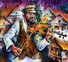 FIDDLER IN JERUSALEM by Leonid  Afremov