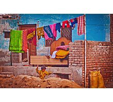 Colorful scene from indian street life Photographic Print