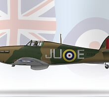 Hawker Hurricane by CobbWebb