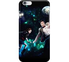 Amy and The Doctor in Space iPhone Case/Skin