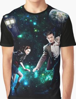 Amy and The Doctor in Space Graphic T-Shirt