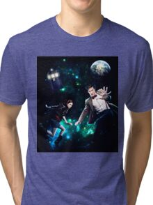 Amy and The Doctor in Space Tri-blend T-Shirt