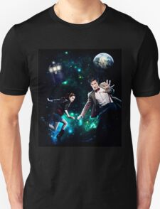 Amy and The Doctor in Space Unisex T-Shirt
