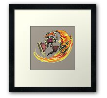 Insane Warriors - Shark Vielding Robot Framed Print