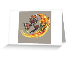 Insane Warriors - Shark Vielding Robot Greeting Card