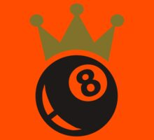 Eight ball billiards crown Kids Tee