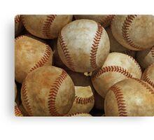Vintage Digital Baseball Artwork Canvas Print