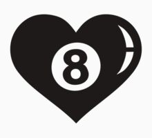 Billiards eight ball heart by Designzz