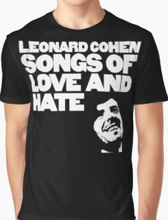 Leonard Cohen - Songs of Love and Hate Graphic T-Shirt
