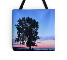 Beach at Dusk With Tree Tote Bag