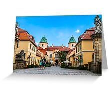 Ksiaz Castle courtyard buildings Greeting Card